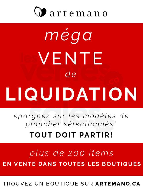 M ga vente de liquidation artemano for Liquidation electromenager montreal