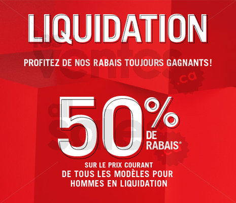 Liquidation aldo rabais de 50 for Entrepot de liquidation