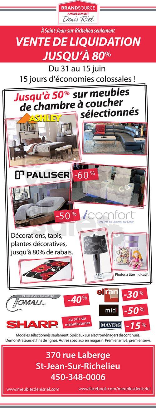 ameublement denis riel jusqu 39 80. Black Bedroom Furniture Sets. Home Design Ideas