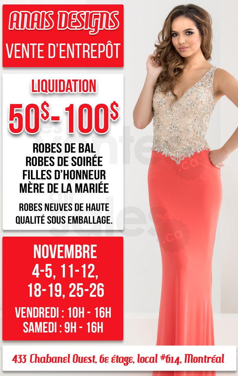 Liquidation robes de soir e 50 100 for Liquidation entrepot