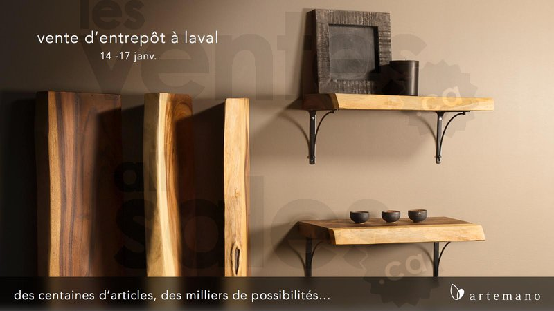 Vente d 39 entrep t artemano laval for Mega meuble montreal nord
