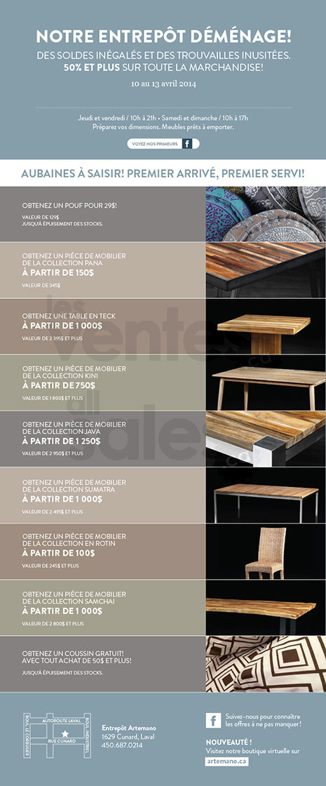 Vente artemano mobilier d cor 50 for Meuble artemano