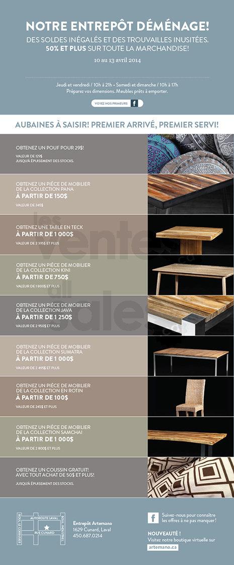 Vente artemano mobilier d cor 50 for Meuble brick laval