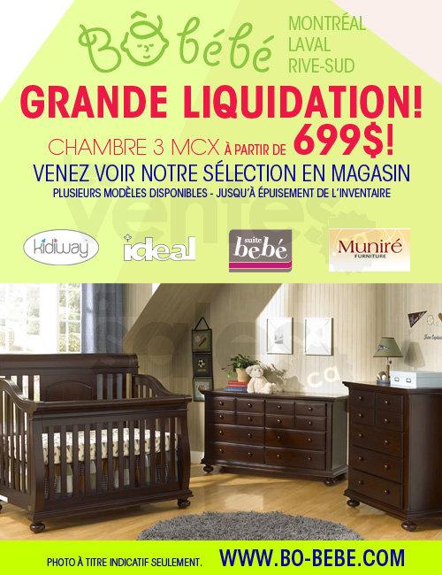B b b liquidation mobilier chambre b b for Centre de liquidation de meubles montreal