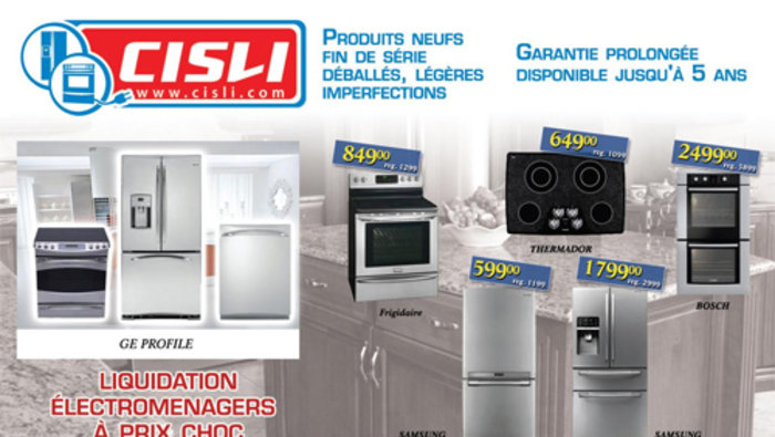 Liquidation lectros bosch lg et for Centre liquidation meuble montreal