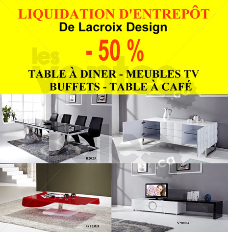 Information sur la vente for Liquidation de meuble montreal