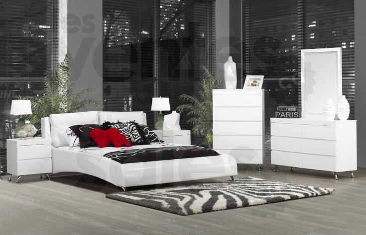 Mobilier chambre coucher 6 mcx 629 for Ensemble mobilier chambre