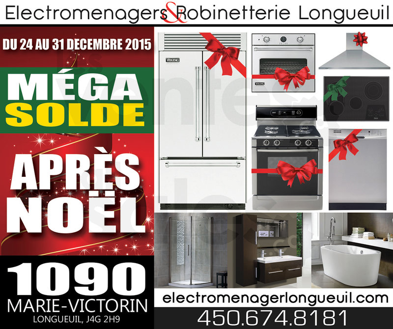Solde de l 39 apr s no l lectrom nagers for Liquidation electromenager longueuil