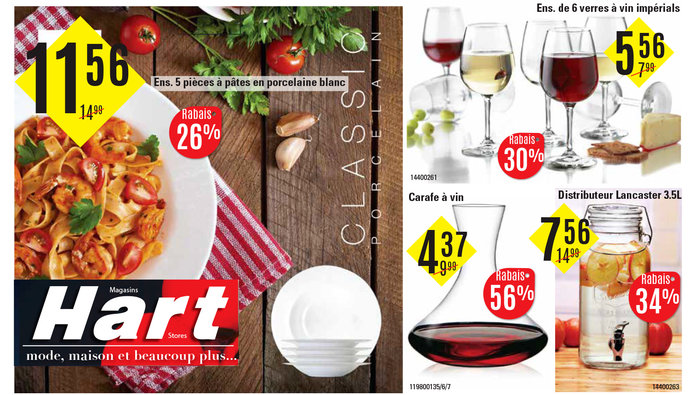 Rabais sur articles de cuisine chez hart for Article de cuisine laval