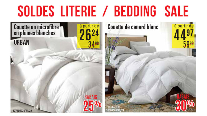 soldes sur la literie chez hart. Black Bedroom Furniture Sets. Home Design Ideas