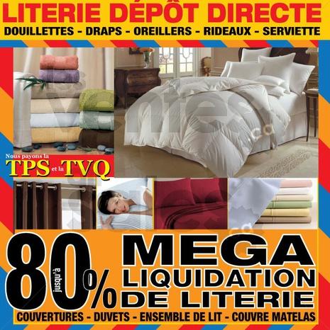 Literie d p t direct jusqu 80 for Vente lit montreal