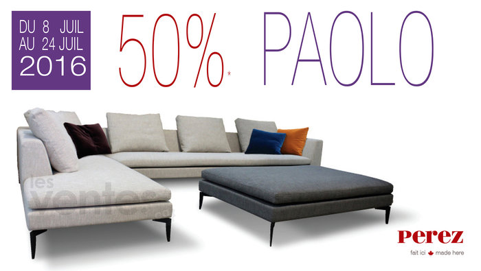 Rabais 50 sur mobilier collection paolo for Meuble a rabais montreal