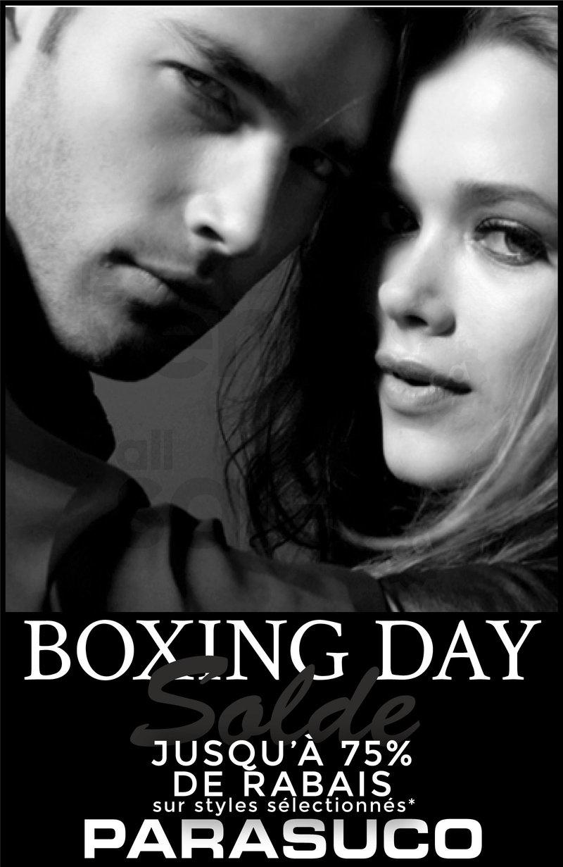 Boxing day parasuco rabais jusqu 39 75 for Meuble boxing day