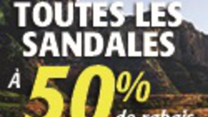 Sandales 50 chez plein air entrep t for Liquidation entrepot