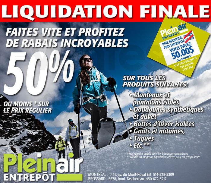 Pleinair entrep t jusqu 39 50 for Liquidation entrepot