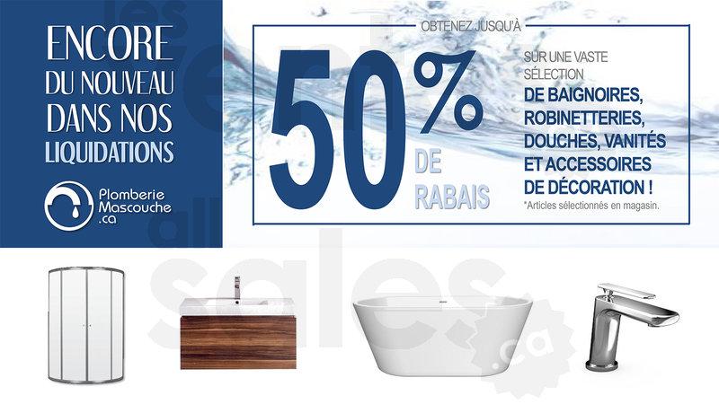 Salle de bain vaste choix jusqu 39 50 for Liquidation salle de bain montreal