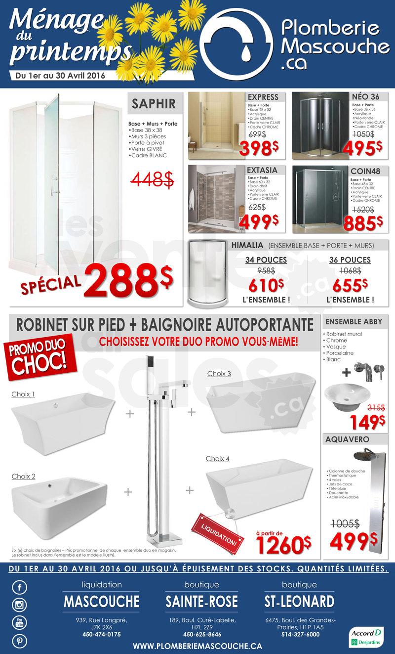 Douche bain robinetterie jusqu 39 50 for Liquidation salle de bain montreal