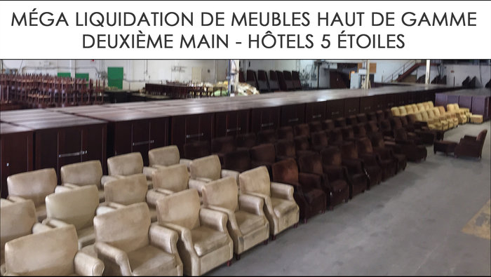 Liquidation meubles h tels 5 toiles for Liquidation de meuble montreal