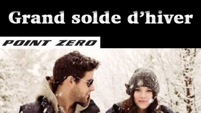 Grand Solde D Hiver Point Zero Lesventes Ca