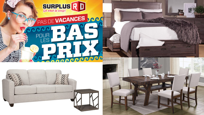 Meubles jusqu 39 50 sofa cuisine chambre for Entrepot matelas rive sud