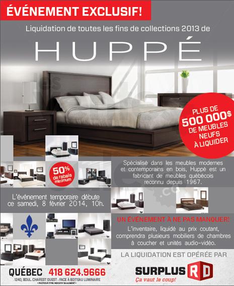 Collections 2013 hupp 50 de rabais et for Entrepot liquidation meubles et matelas