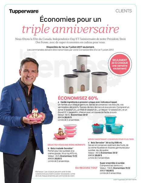 Flyer anniversaire Tupperware