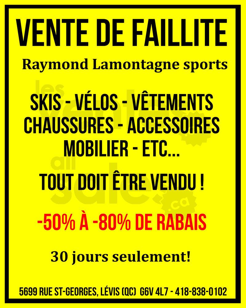 Québec: Vente faillite équipement sport | lesventes.ca