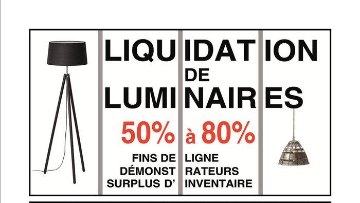 Vente de liquidation de luminaires for Horaire costco laval