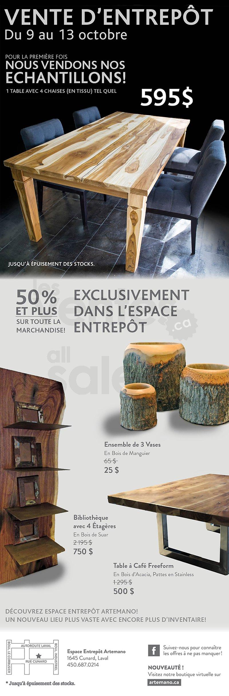 Artemano vente entrep t de mobilier 50 for Entrepot du meuble