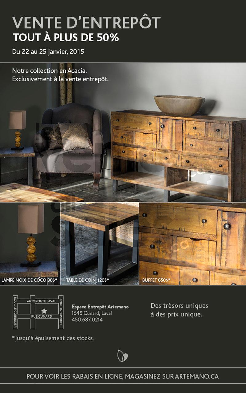 Artemano vente entrep t de mobilier 50 for Entrepot de meuble