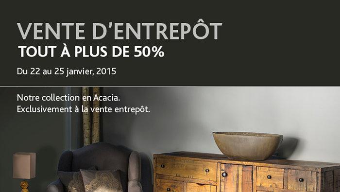 Artemano vente entrep t de mobilier 50 for Entrepot de meuble a montreal
