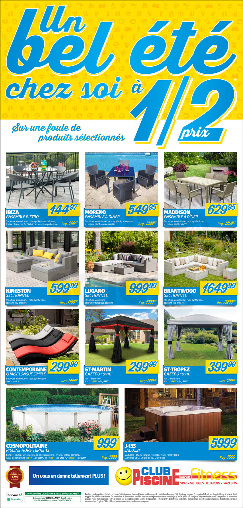 Club piscine 50 produits s lectionn s for Club piscine liquidation laval