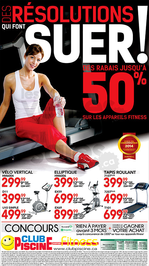 Club piscine jusqu 39 50 sur fitness for Club piscine fitness liquidation