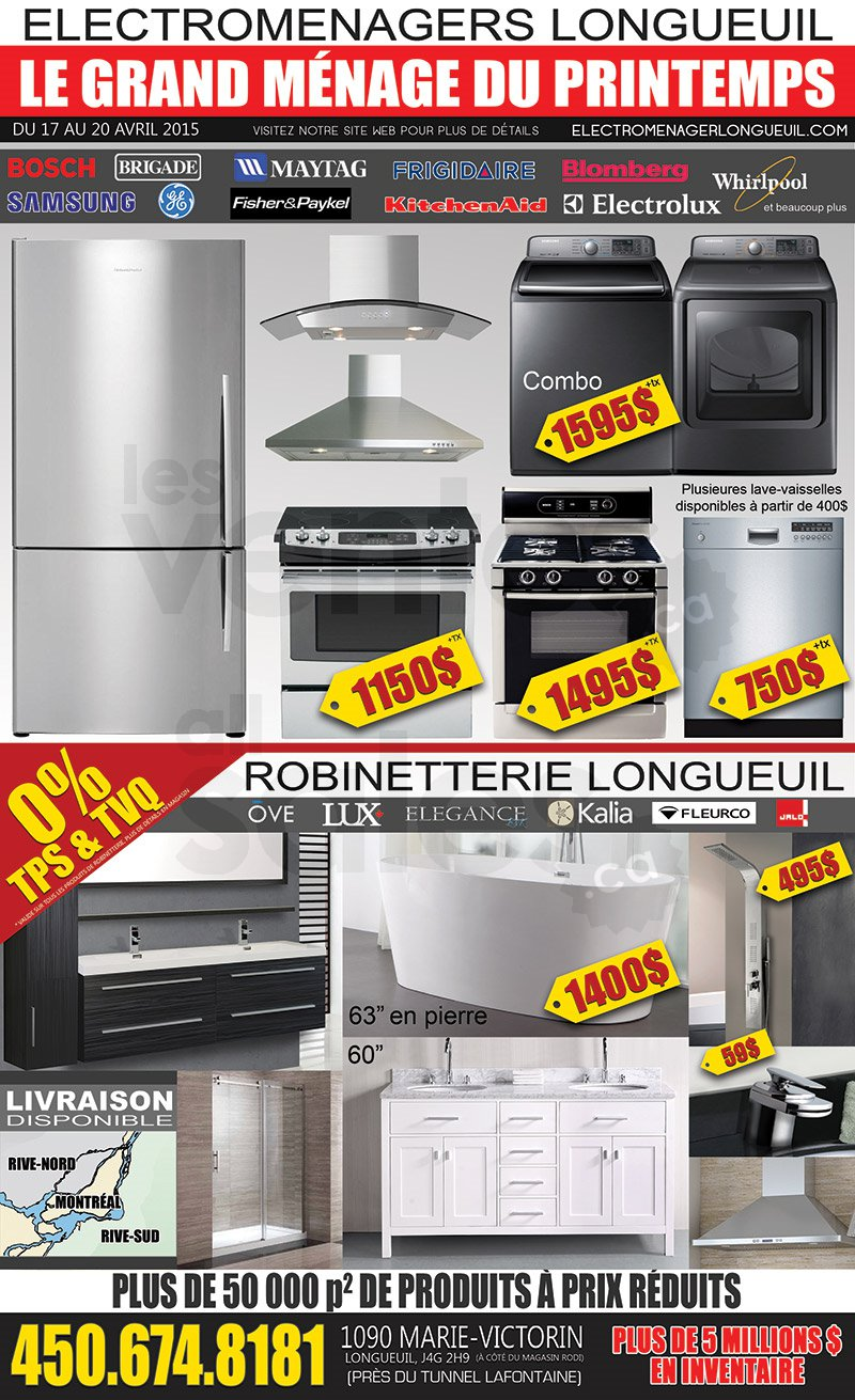 Grande vente d lectrom nagers et plus for Liquidation electromenager longueuil