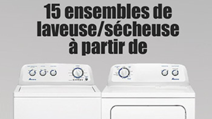 M ga vente de 4 jours lectrom nagers for Liquidation electromenager lanaudiere