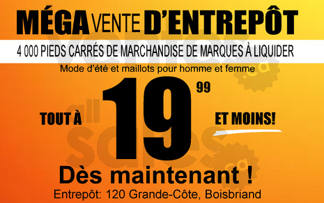 Vente entrep t t maillots 19 99 for Entrepot liquidation
