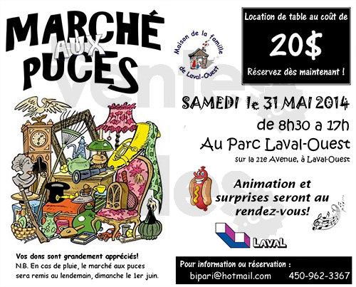 March aux puces annuel laval ouest for Meuble bigras laval ouest