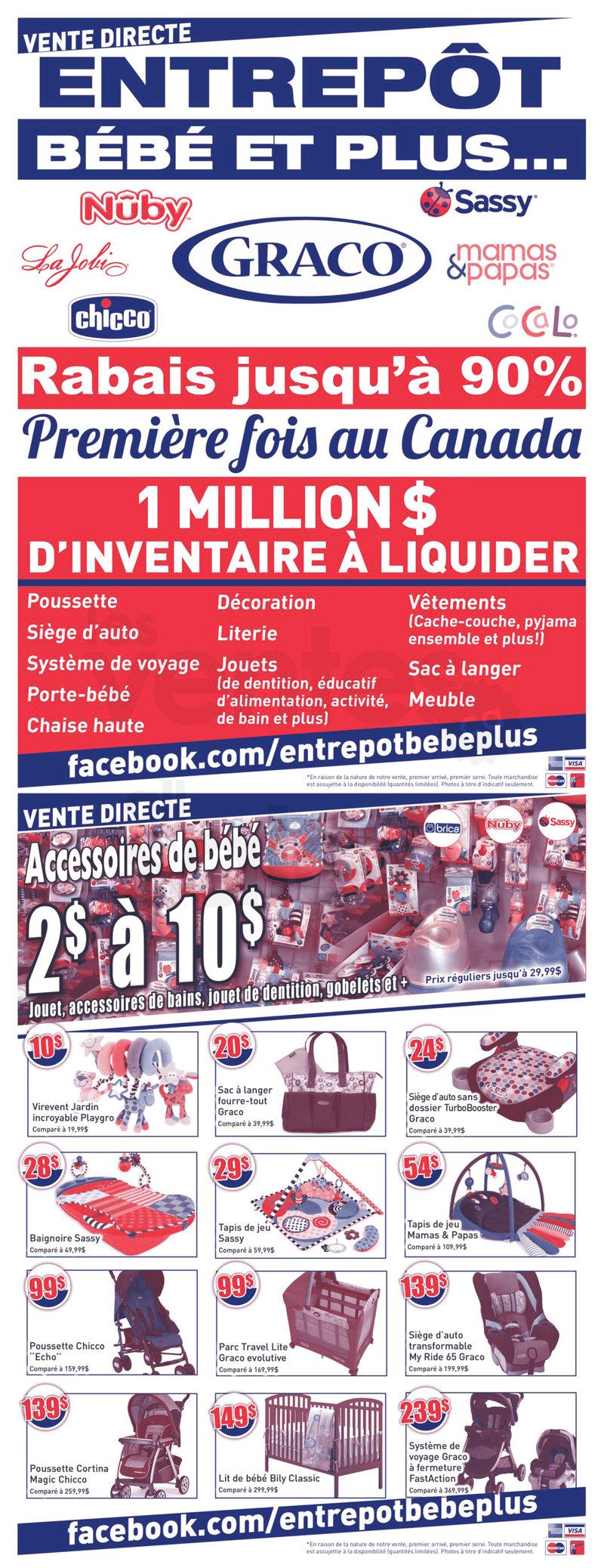Entrep t tout pour b b jusqu 39 90 for Entrepot liquidation meubles et matelas
