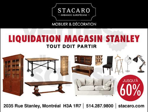 Liquidation meubles d cor jusqu 60 for Meuble stacaro montreal