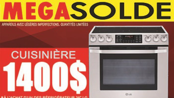 M ga solde sur combo d lectrom nagers for Liquidation electromenager lanaudiere