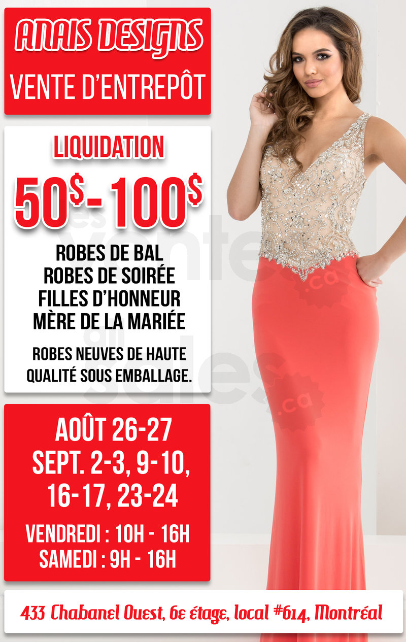 Liquidation robes de soir e 50 100 for Entrepot de liquidation