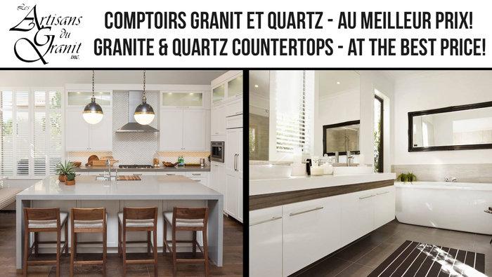 Comptoirs quartz granit meilleur prix for Centre liquidation cuisine
