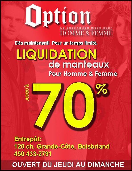 Vente d 39 entrep t manteaux jusqu 39 70 for Liquidation entrepot