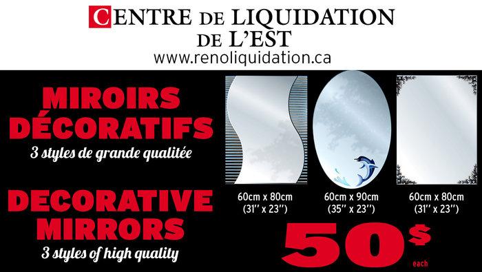 Grand solde miroir d coratif 3 styles for Grand miroir solde