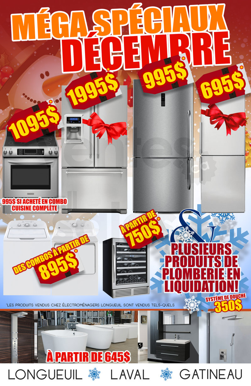 Soldes de d cembre kitchenaid whirlpool for Liquidation meuble gatineau