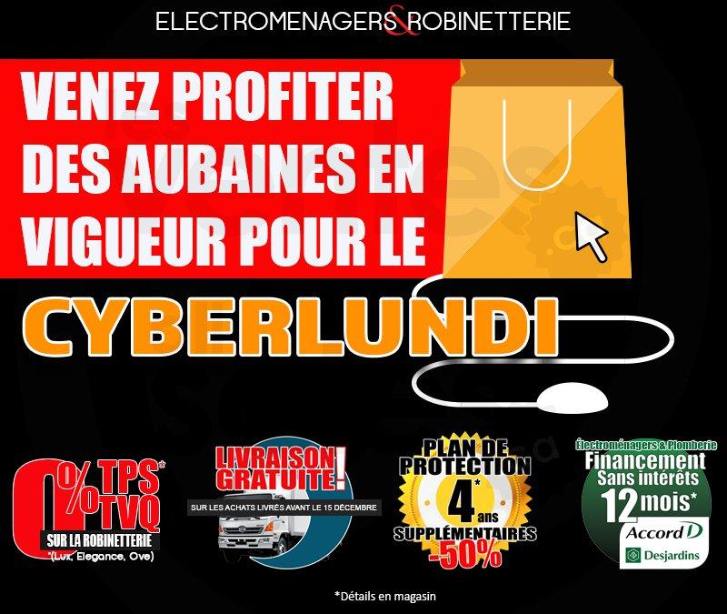 Des rabais cyberlundi exclusifs for Electromenager en liquidation