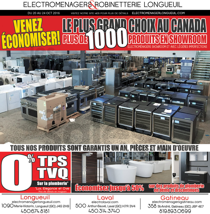 Liquidation electromenager laval for Electromenager en liquidation