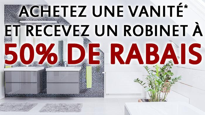 Robinet 50 l 39 achat d 39 une vanit for Meuble ashley st hubert