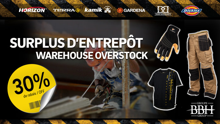 V tements travail outils jusqu 39 75 for Liquidation electromenager lanaudiere