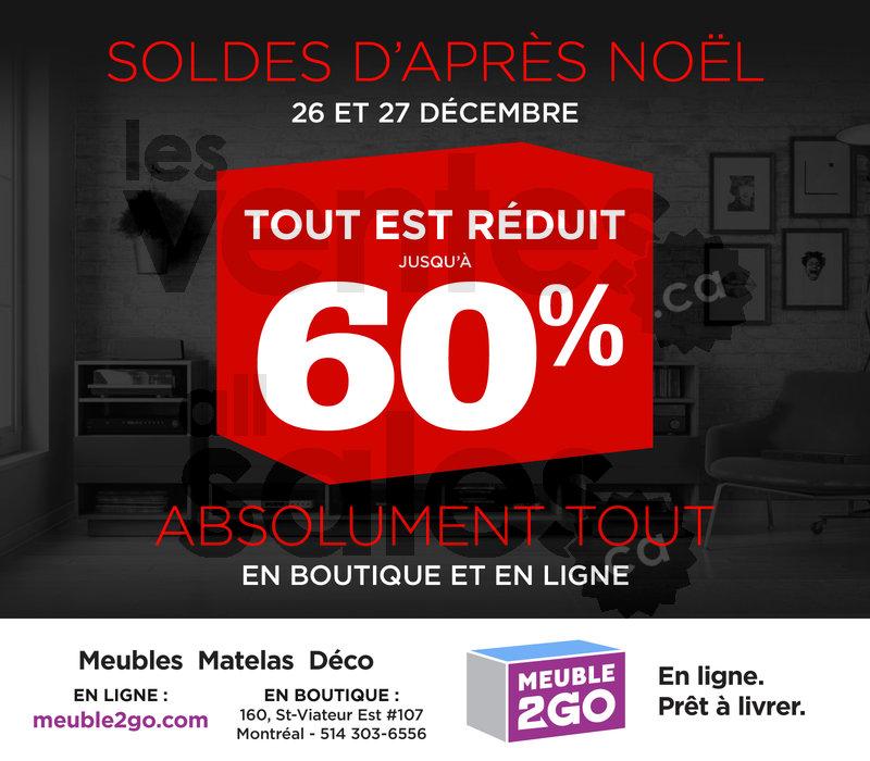Rabais 60 meubles matelas et d co for Meuble boxing day